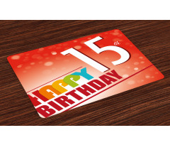 15th Birthday Concept Place Mats