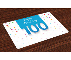 100 Years Birthday Place Mats