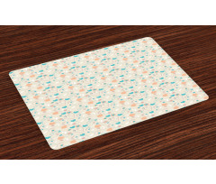 Abstract Art Floral Doodle Place Mats