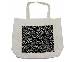 Abstract Art Rose Flowers Shopping Bag