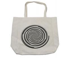 Abstract Art Spirals Shopping Bag