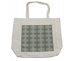 Abstract Art Floral Shopping Bag