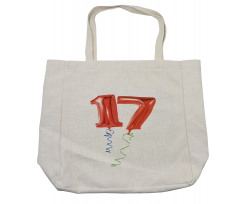 17 Party Red Balloons Shopping Bag