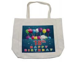 18 Birthday Balloons Shopping Bag