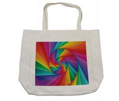 Abstract Art Vivid Swirl Shopping Bag