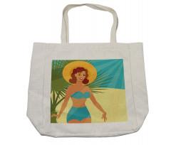 1950s Style Bikini Shopping Bag