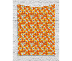 Abstract Autumn Flora Tapestry