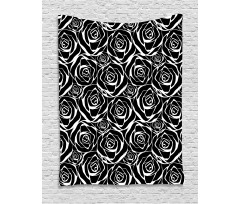 Abstract Art Rose Flowers Tapestry
