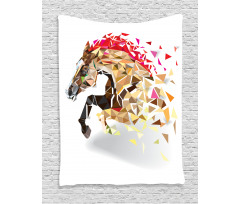 Abstract Art Wild Horse Tapestry