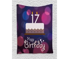 17 Party Cake Tapestry