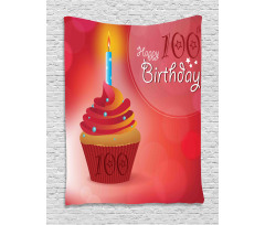 100 Old Cupcake Tapestry