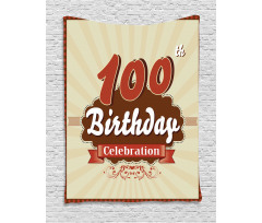 100 Old Party Invite Tapestry