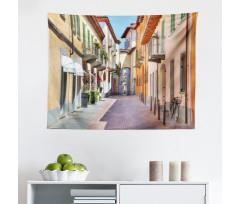 Avrupa Mikrofiber Geniş Duvar Halısı Kuzey İtalya Pastel Binalar