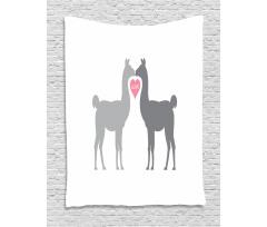 2 Animals in Love Tapestry