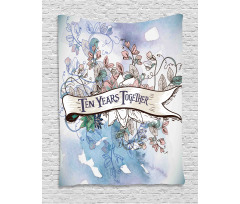 10 Years Floral Art Tapestry