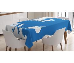 Avrupa Masa Örtüsü Dünya Haritasından Bir Parçanın Soyut Çizimi