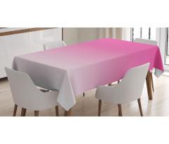Masa Örtüsü Açık Pembe Desenli