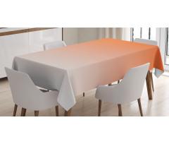 Masa Örtüsü Turuncu Beyaz Desenli