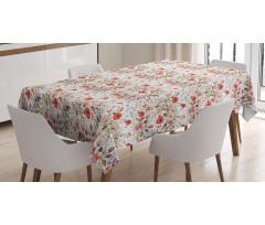Masa Örtüsü Dekoratif Gül Desenli