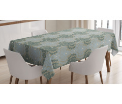 Abstract Art Floral Tablecloth