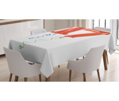 17 Party Red Balloons Tablecloth