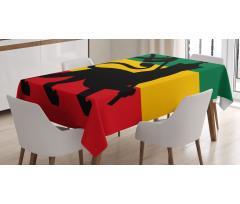 Afrika Masa Örtüsü Haç ve Aslan