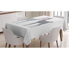 2 Animals in Love Tablecloth