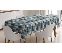 Abstract Art Silhouettes Tablecloth