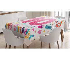 10 Years Kids Birthday Tablecloth