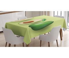 Avokado Masa Örtüsü İçi Sert Çekirdekli Sağlıklı Meyve Model