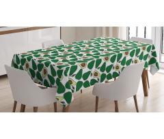 Avokado Masa Örtüsü İç ve Dış Yüzü Gözüken Tekrarlı Doğal Meyve