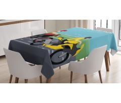 2 Bikers Racing Tablecloth