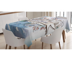 10 Years Floral Art Tablecloth