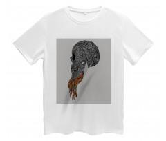 Abstract Art Skull Beard Men's T-Shirt
