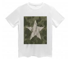 Grunge Star on Green Men's T-Shirt