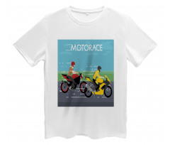 2 Bikers Racing Men's T-Shirt