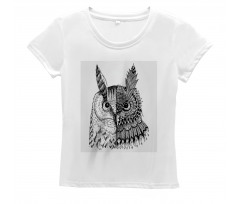 2 Animal Faces Design Women's T-Shirt