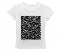 Abstract Art Rose Flowers Women's T-Shirt