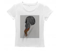 Abstract Art Skull Beard Women's T-Shirt
