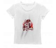 18 Wheeler Silhouette Women's T-Shirt
