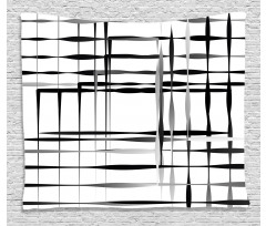 Abstract Art Geometric Wide Tapestry