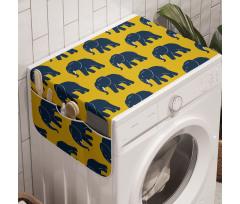 Afrika Çamaşır Makinesi Düzenleyici Soyut Devamlı Dev Fil Hayvanı Silüetleri