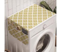 Çamaşır Makinesi Düzenleyici Nostaljik Damask