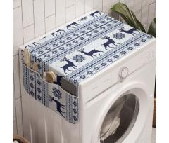 Avrupa Çamaşır Makinesi Düzenleyici Ren Geyiği ve Kar Taneleri Örgü Desenleri