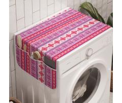 Avrupa Çamaşır Makinesi Düzenleyici Yatay Şeritler Kar Tanesi ve Mistik Desenler
