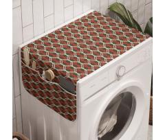 Eski Çamaşır Makinesi Düzenleyici Damla Şeklinde Çizgili Vintage Duvar Kağıdı
