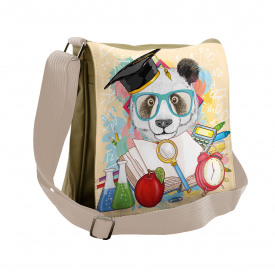 Astronaut on Moon Cartoon Large Weekender Carry-on Ambesonne Panda Gym Bag