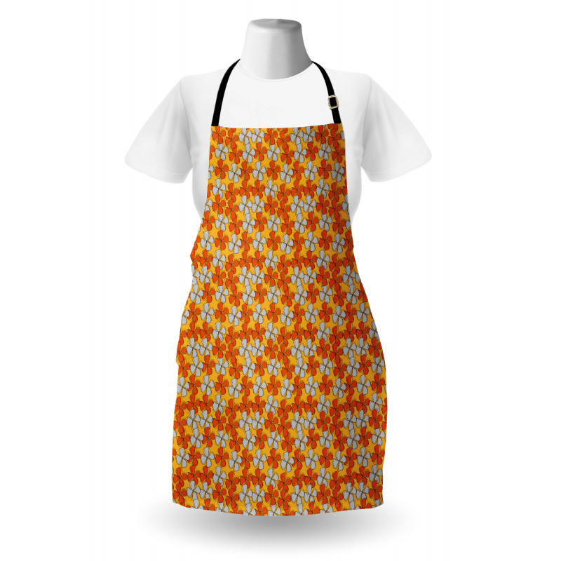 Abstract Autumn Flora Apron