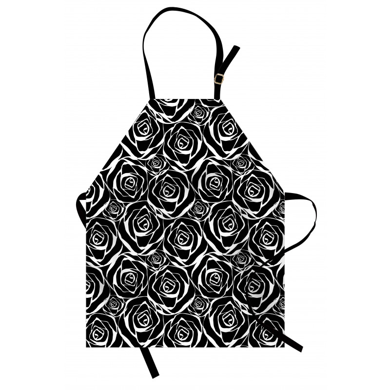 Abstract Art Rose Flowers Apron