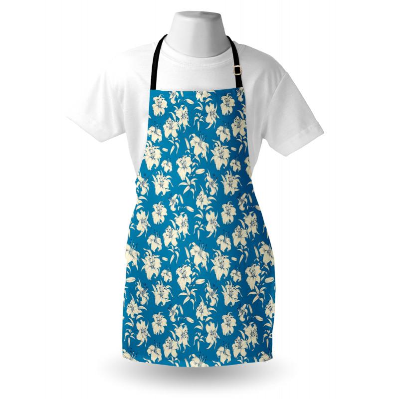 Bahar Mutfak Önlüğü Zarif ve Güzel Vintage Çiçeklerin Şık Çizimi